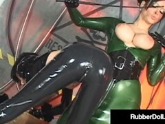 Latex Dom RubberDoll Whips & Encases Psylocke In Plastic Box with Vacuum! Thumb