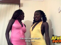 Hot Threesome with 2 African Amateurs! Thumb