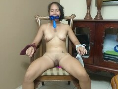 Tiny Teen tied up has multiples orgams with lovense vibrator Thumb