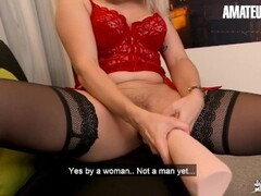 AmateurEuro - Kinky French MILF Tests All Type of Toys and Double Anal Thumb