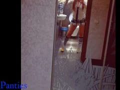 Teacher cum in my panties in the school toilet -#BACKTOSCHOOL2019 Thumb