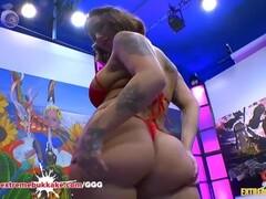 Heidi Van Horny busty Tattooed MILF in Extreme Bukkake Thumb