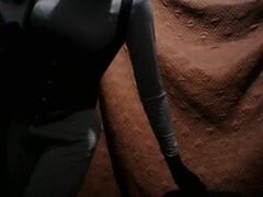 Black Zentai Batgirl cosplay (Cosplay scene only) Thumb