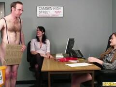 Horny office handjob babes jerk off dick Thumb
