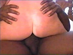 white wife riding a large Black cock Thumb