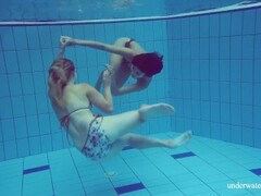 Lesbians in the pool hot action Thumb