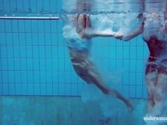 Dashka and Vesta underwater teens Thumb