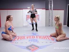 Big boobed Bella Rossi lesbian sex wrestling with Sophia Grace Thumb