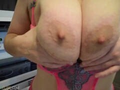 Full Clip - POV Big Tits Pussy Closeup Virtual Sex Dirty Talk in Kitchen Thumb