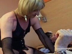 Lucky old crossdressers with a fit MILF Thumb