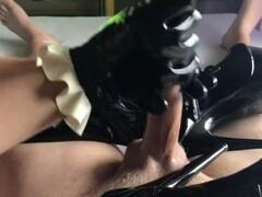 Cum on black boots Thumb