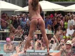 creamy wet tshirt contest at a pool bar in key west florida Thumb