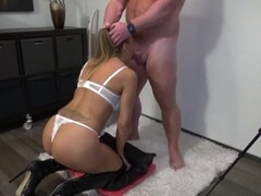 Fucking My Slut Wife In Her Mouth & Pumping Big Load In Her Throat (Cam 2) Thumb