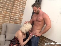Old Bitch Mouth Creampied by Muscle Gigolo Thumb