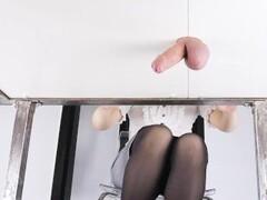 Milking Table Edging Gloryhole - Cock and Balls Ballbusting - Era Thumb