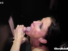 busty mom eats strangers cocks in gloryhole Thumb