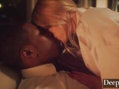 Deeper. BBC Deepthroat by Leah Lee While Husband is Sleeping Thumb