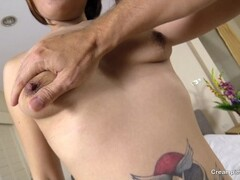 her asian pussy filled with semen Thumb