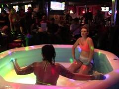 NIP SLIP! Hot Girl On Girl Oil Wrestling Thumb