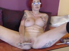 Adult ass to mouth lover Pipa plays with a black toy Thumb