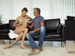 daddy4k. beautiful sexy lady has hot sex with old man on his giant villa Thumb