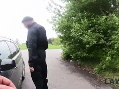 law4k. busty girl leanne lace steals bmw but security guards Thumb